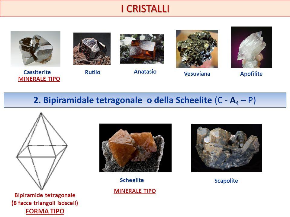 Bipiramide tetragonale (8 facce triangoli isosceli)