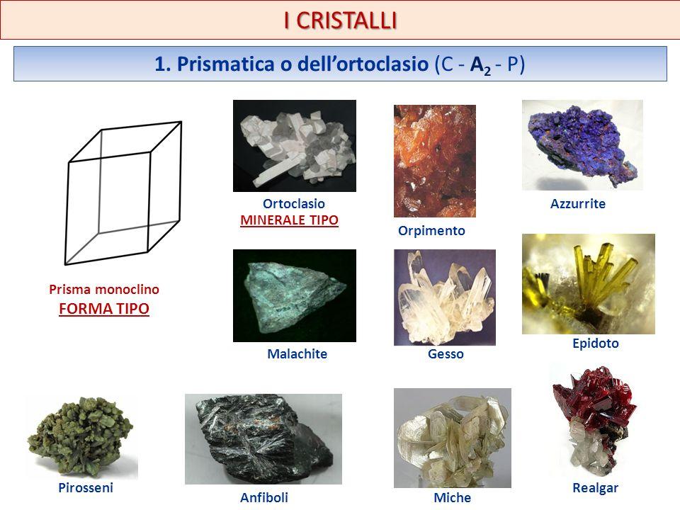 1. Prismatica o dell'ortoclasio (C - A2 - P)
