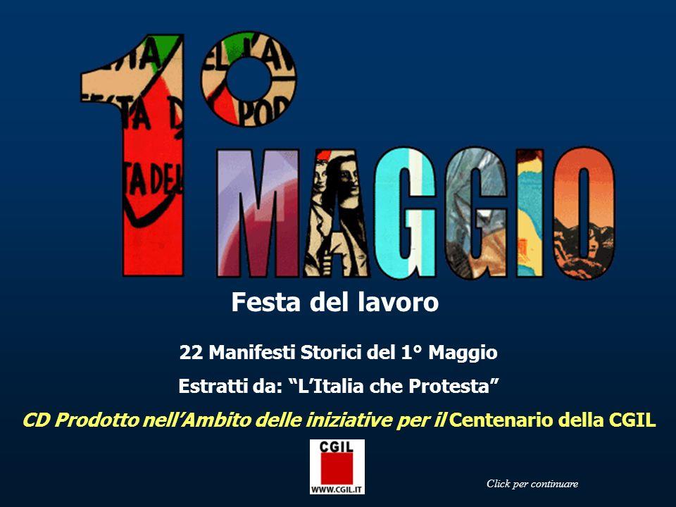 Festa del lavoro 22 Manifesti Storici del 1° Maggio