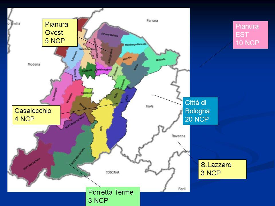 Pianura Ovest 5 NCP. Pianura EST. 10 NCP. Città di Bologna 20 NCP. Casalecchio. 4 NCP. S.Lazzaro.