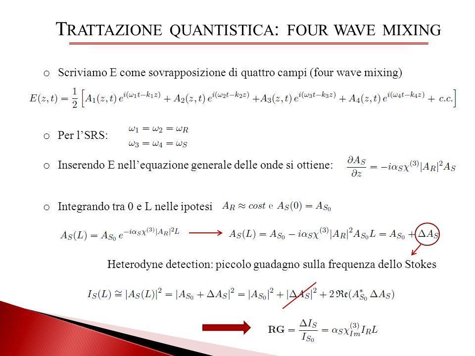 Trattazione quantistica: four wave mixing