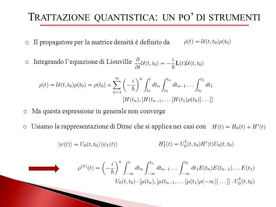 Trattazione quantistica: un po' di strumenti