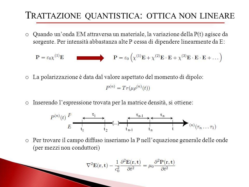 Trattazione quantistica: ottica non lineare