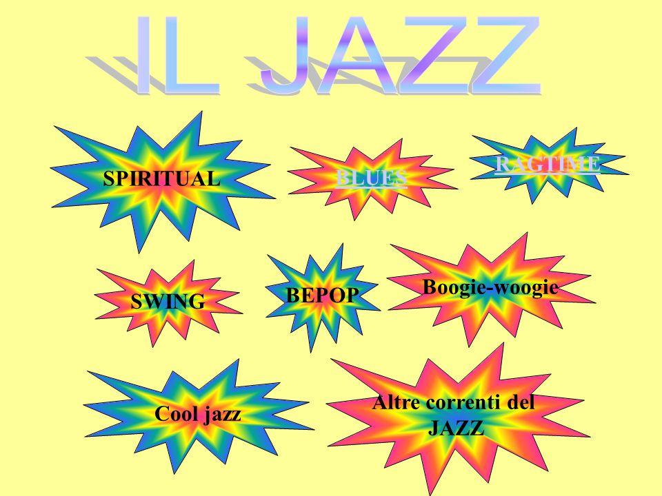IL JAZZ SPIRITUAL RAGTIME BLUES Boogie-woogie BEPOP SWING