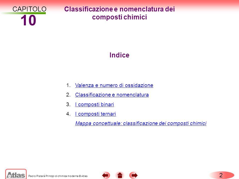 Classificazione e nomenclatura dei composti chimici