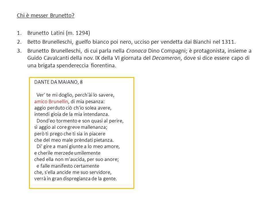 Chi è messer Brunetto Brunetto Latini (m. 1294)