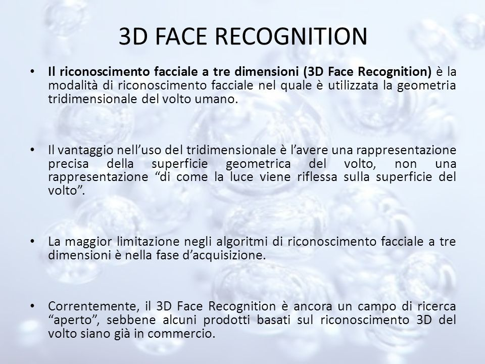 3D FACE RECOGNITION