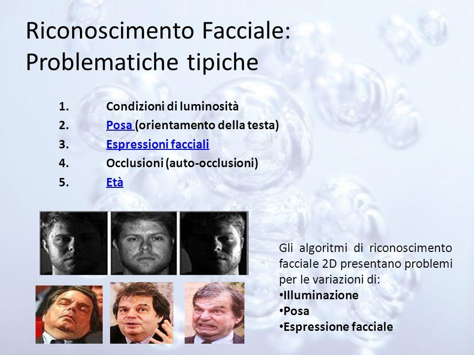 Riconoscimento Facciale: Problematiche tipiche