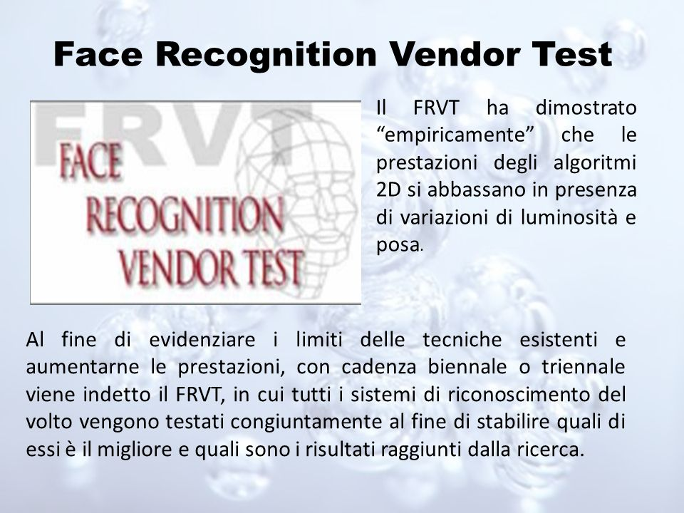 Face Recognition Vendor Test