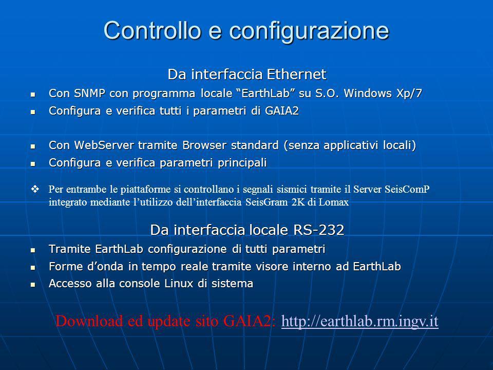 Controllo e configurazione
