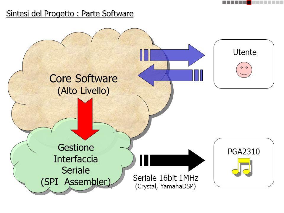 Sintesi del Progetto : Parte Software