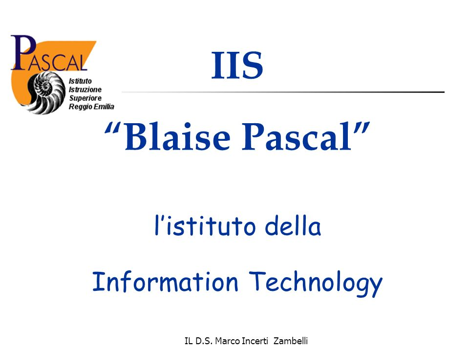 IIS Blaise Pascal l'istituto della Information Technology