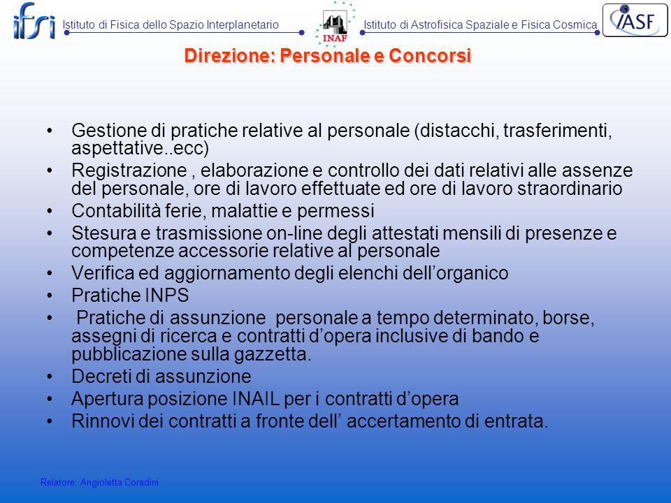 Direzione: Personale e Concorsi