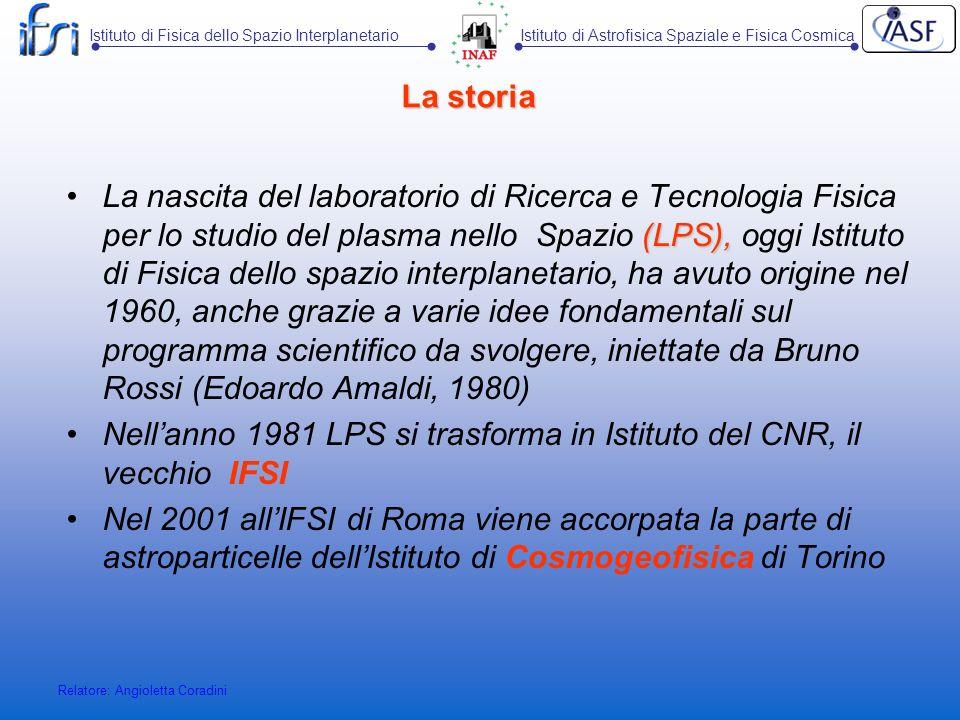 Nell'anno 1981 LPS si trasforma in Istituto del CNR, il vecchio IFSI