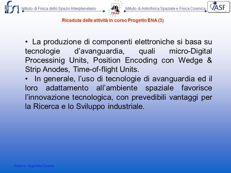 Ricaduta delle attività in corso Progetto ENA (3)