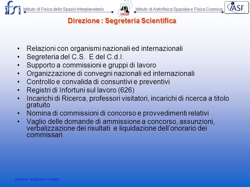 Direzione : Segreteria Scientifica