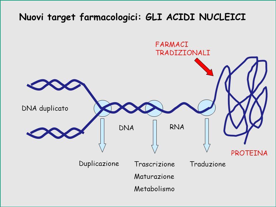 Nuovi target farmacologici: GLI ACIDI NUCLEICI