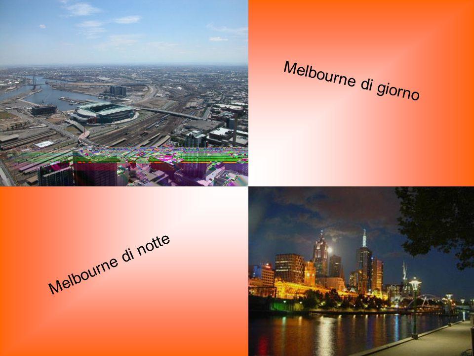 Melbourne di giorno Melbourne di notte