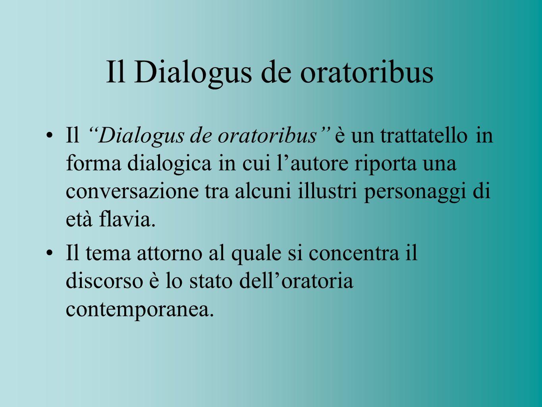 Il Dialogus de oratoribus