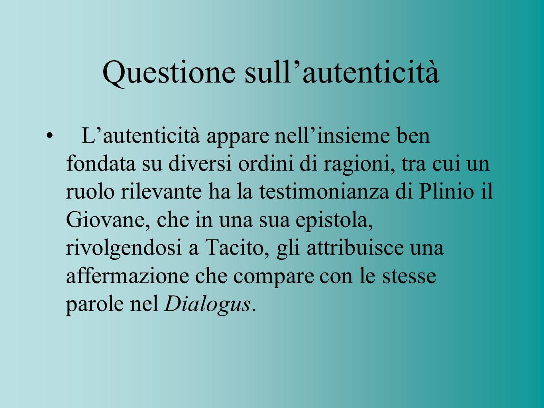Questione sull'autenticità