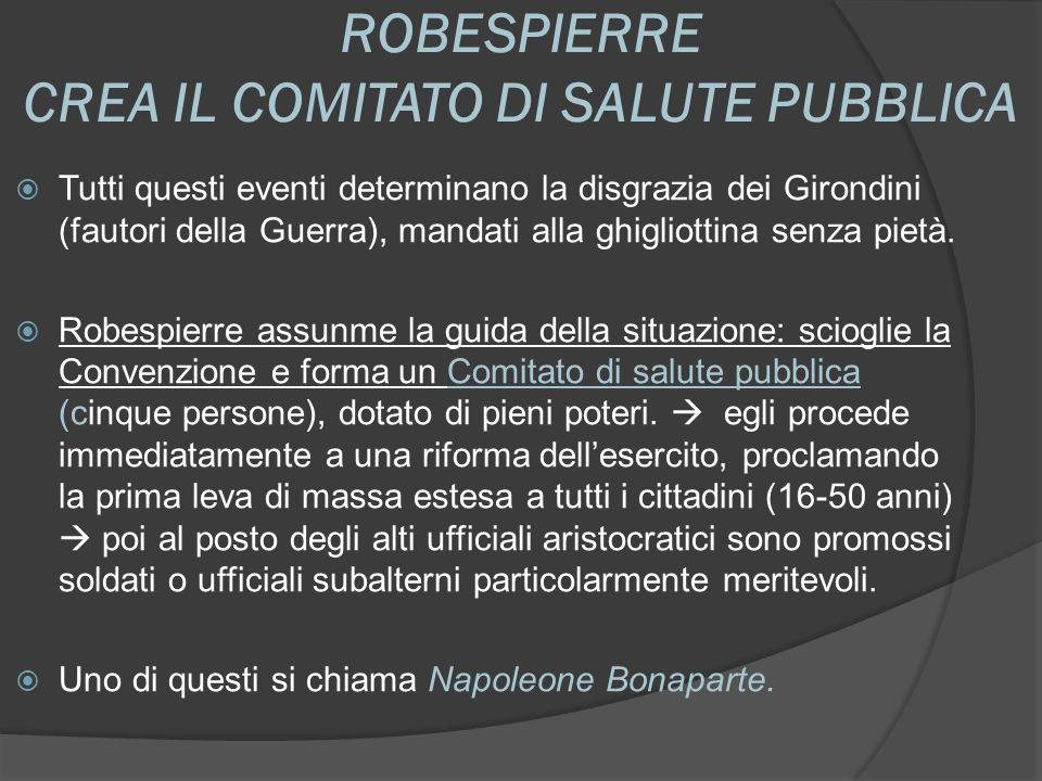 ROBESPIERRE CREA IL COMITATO DI SALUTE PUBBLICA