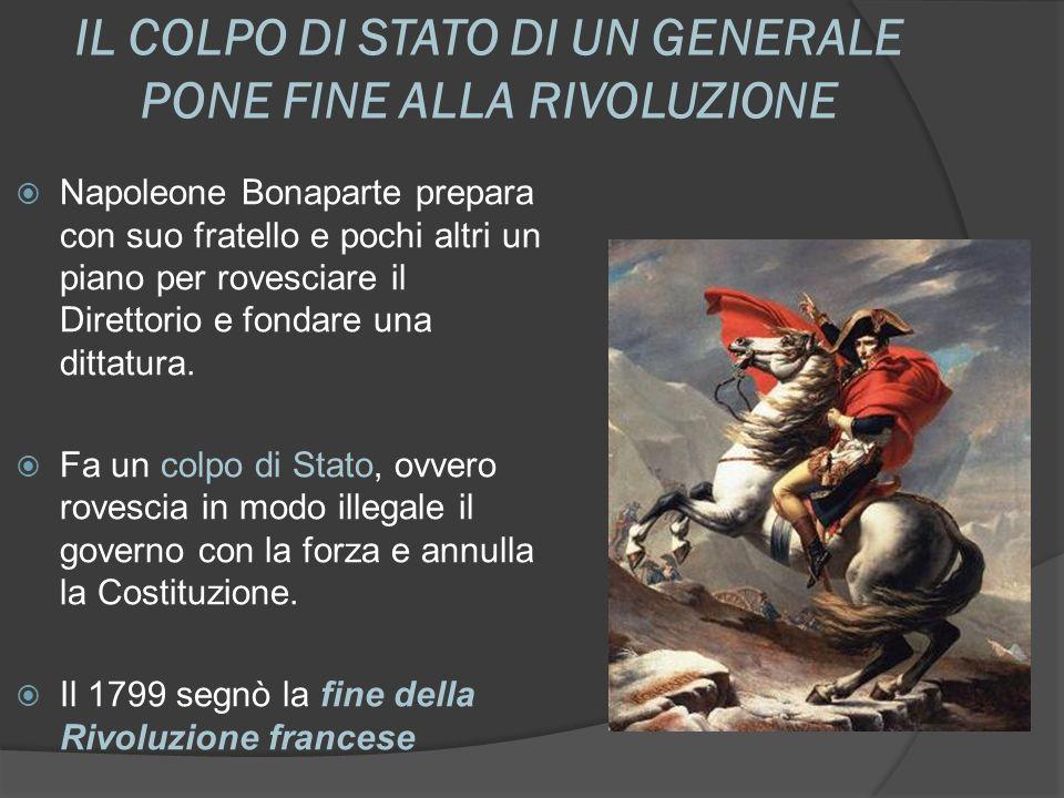 IL COLPO DI STATO DI UN GENERALE PONE FINE ALLA RIVOLUZIONE