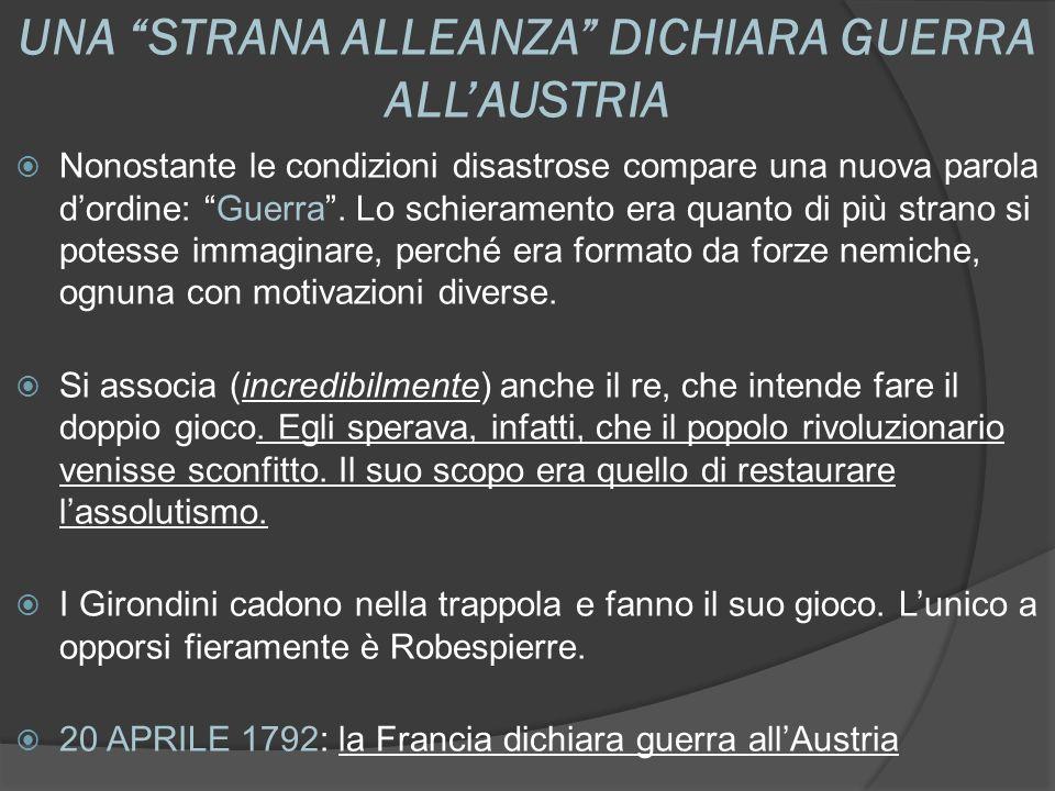 UNA STRANA ALLEANZA DICHIARA GUERRA ALL'AUSTRIA