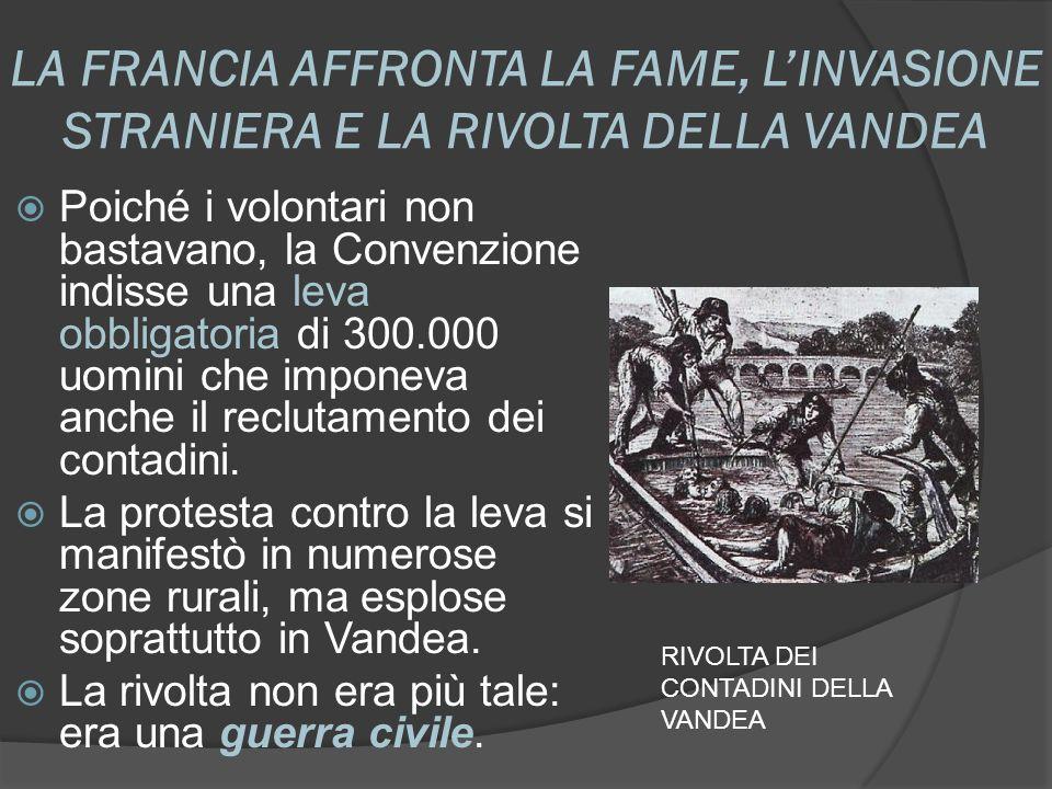 LA FRANCIA AFFRONTA LA FAME, L'INVASIONE STRANIERA E LA RIVOLTA DELLA VANDEA