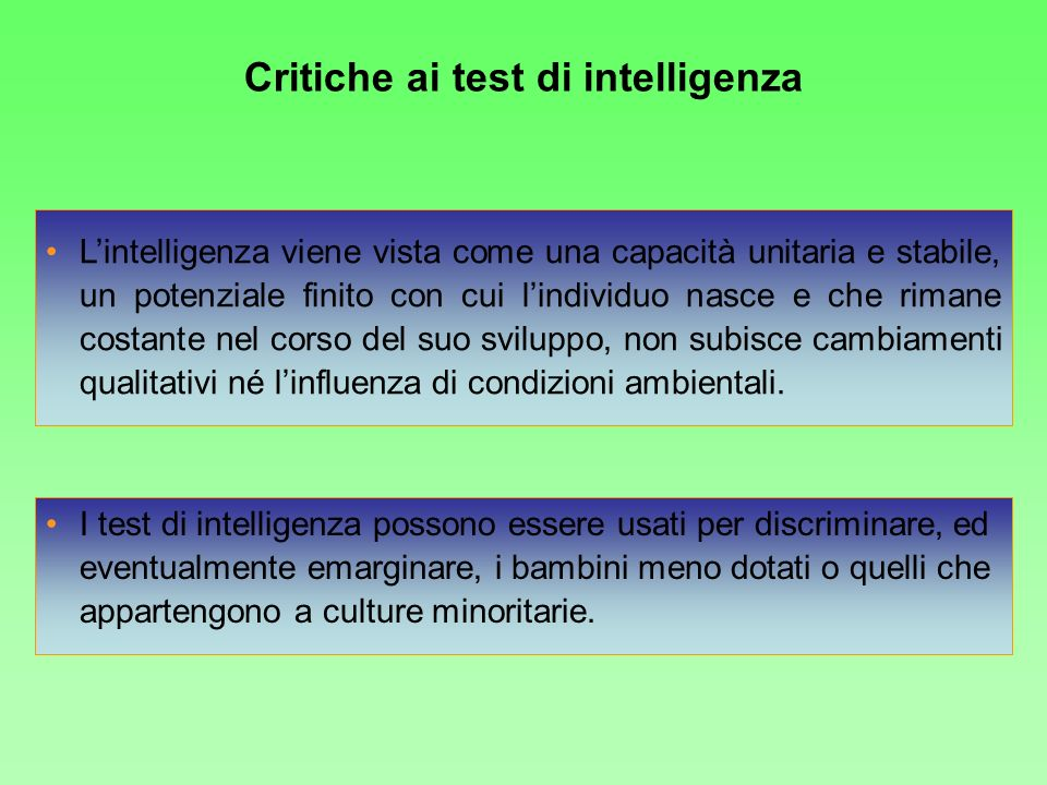 Critiche ai test di intelligenza