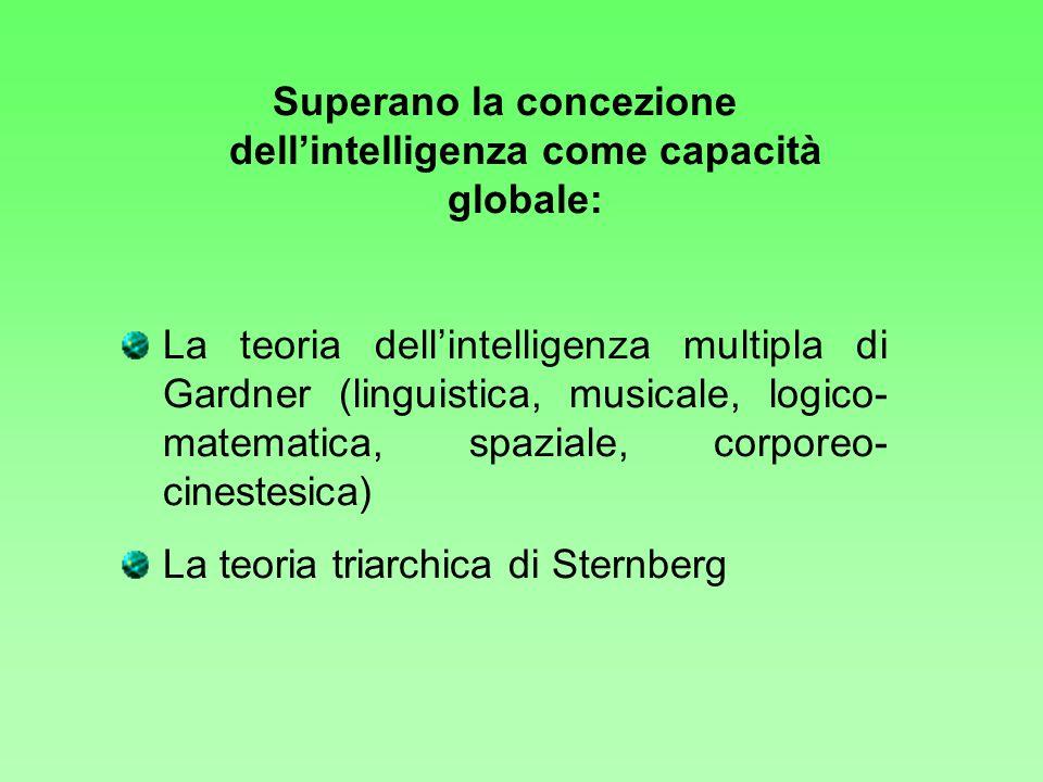 Superano la concezione dell'intelligenza come capacità globale: