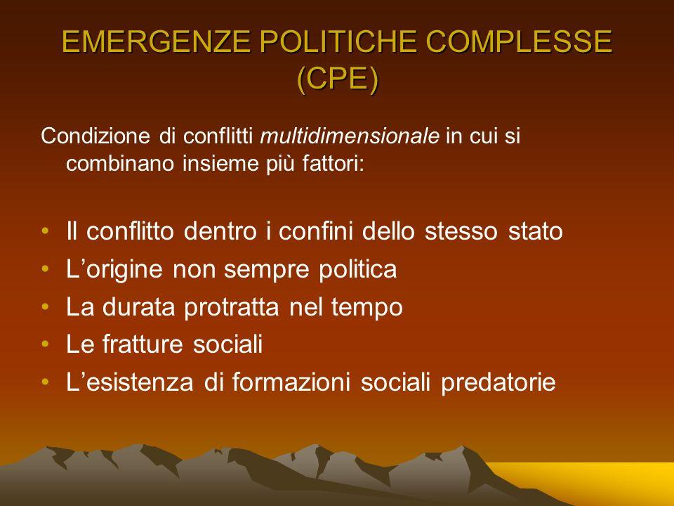 EMERGENZE POLITICHE COMPLESSE (CPE)