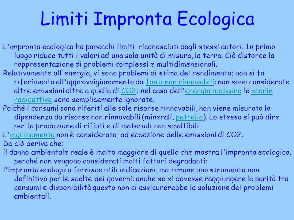 Limiti Impronta Ecologica