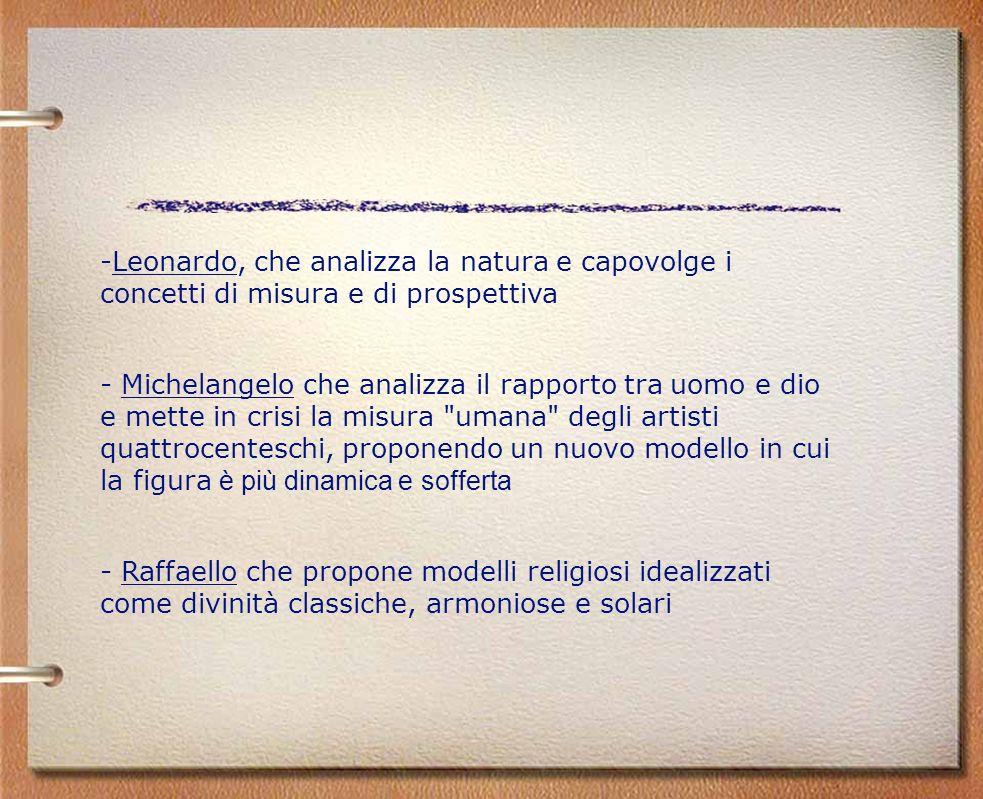 Leonardo, che analizza la natura e capovolge i concetti di misura e di prospettiva