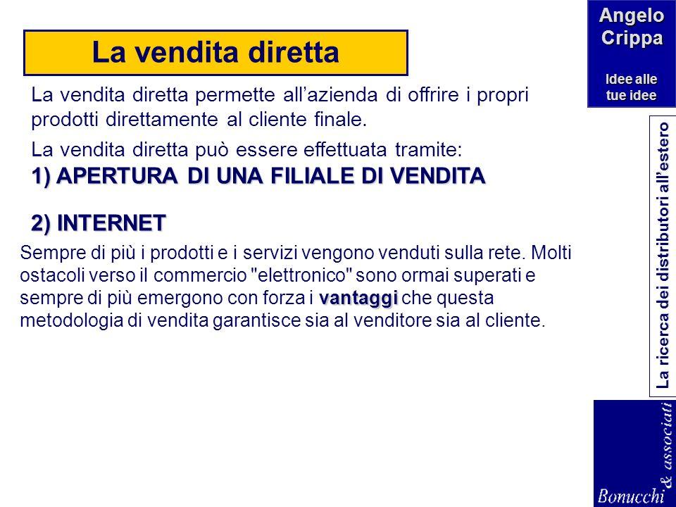 La vendita diretta 1) APERTURA DI UNA FILIALE DI VENDITA 2) INTERNET