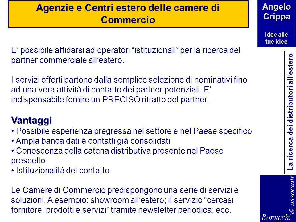 Agenzie e Centri estero delle camere di Commercio