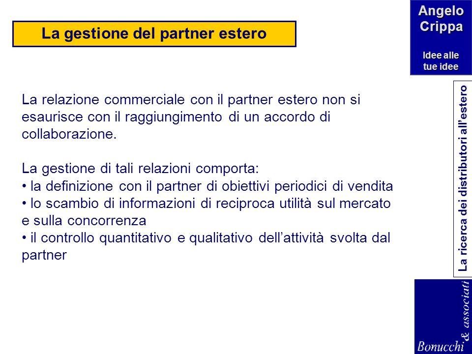 La gestione del partner estero