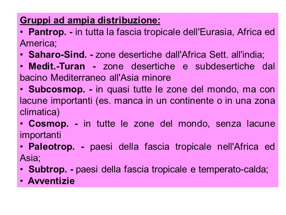 Gruppi ad ampia distribuzione: