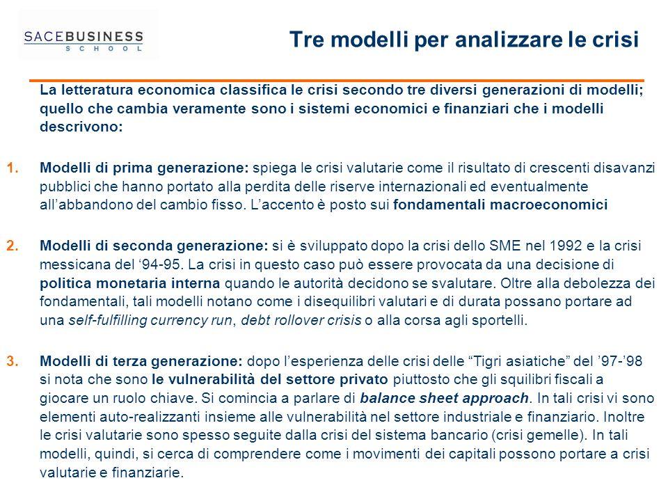 Tre modelli per analizzare le crisi