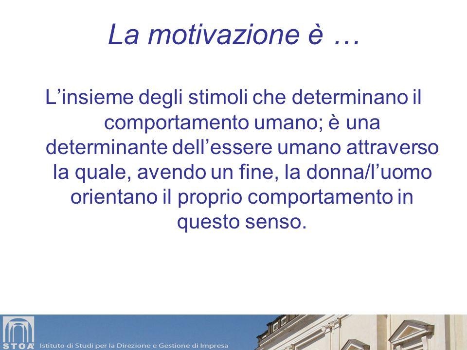 La motivazione è …