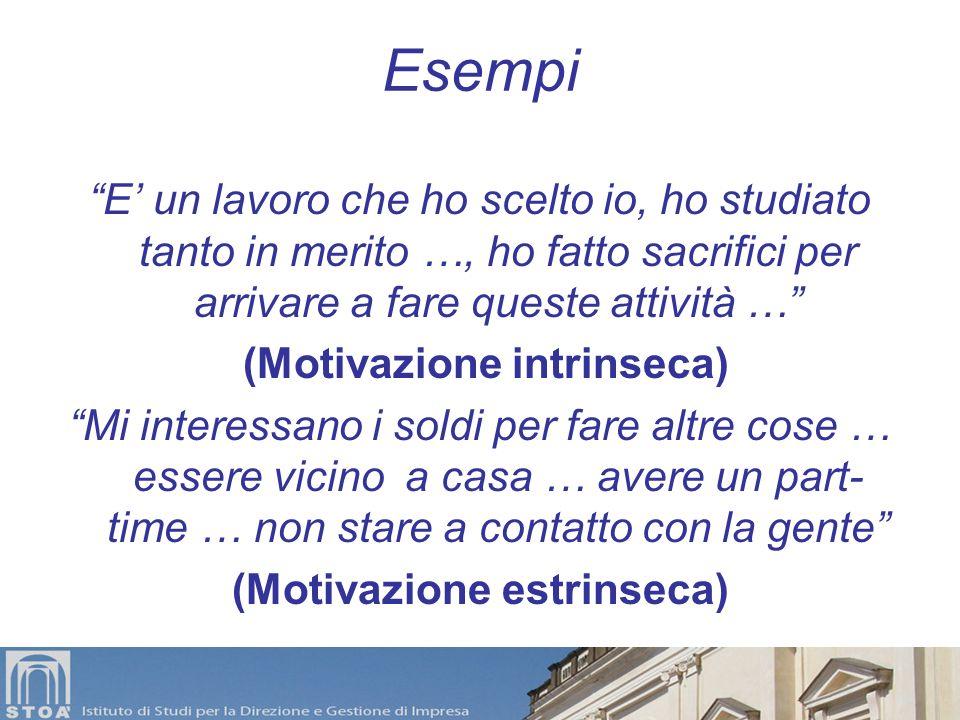 (Motivazione intrinseca) (Motivazione estrinseca)