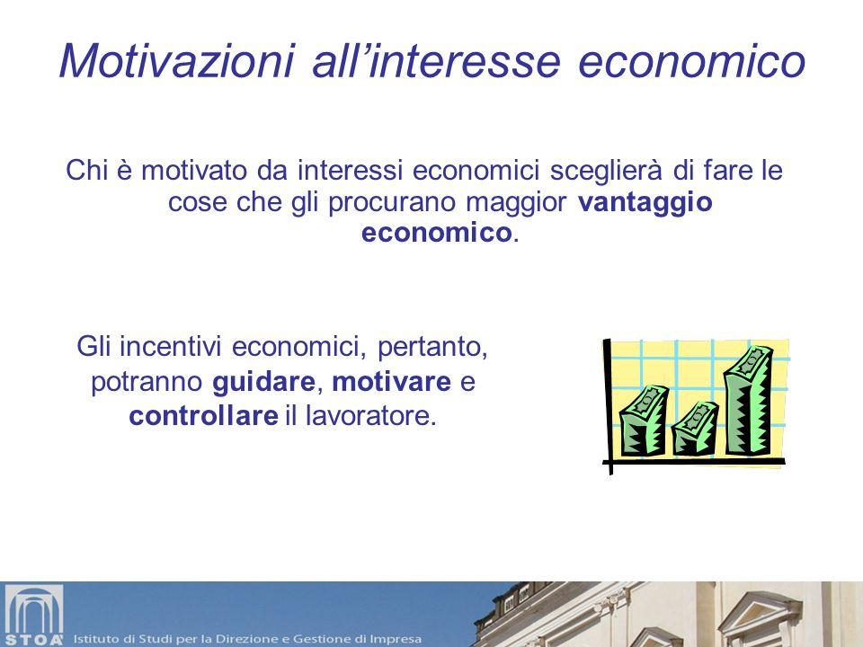 Motivazioni all'interesse economico