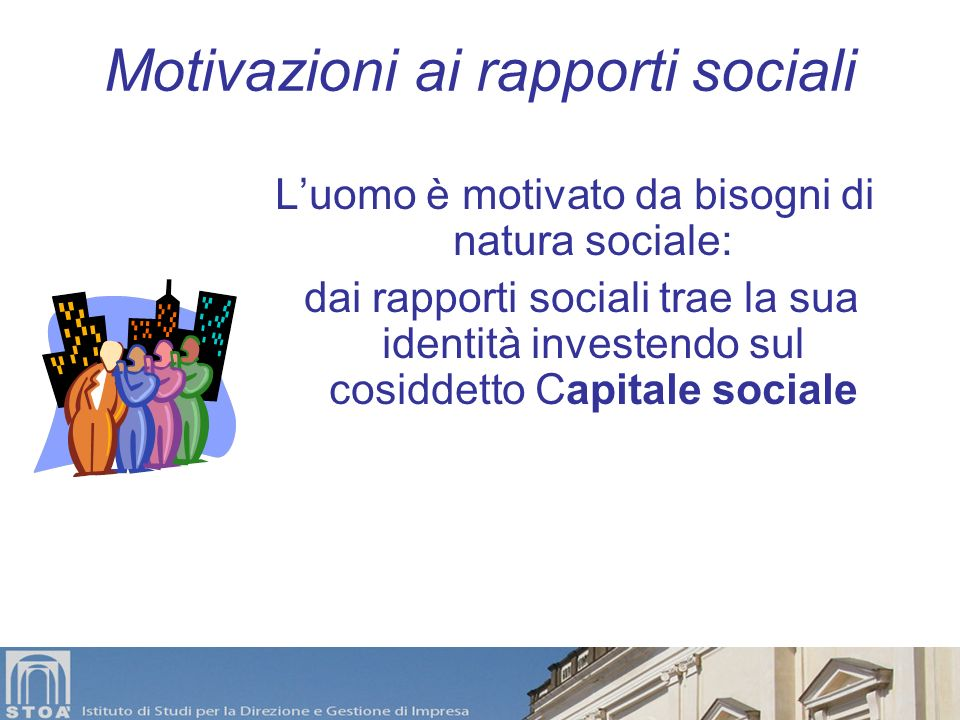 Motivazioni ai rapporti sociali