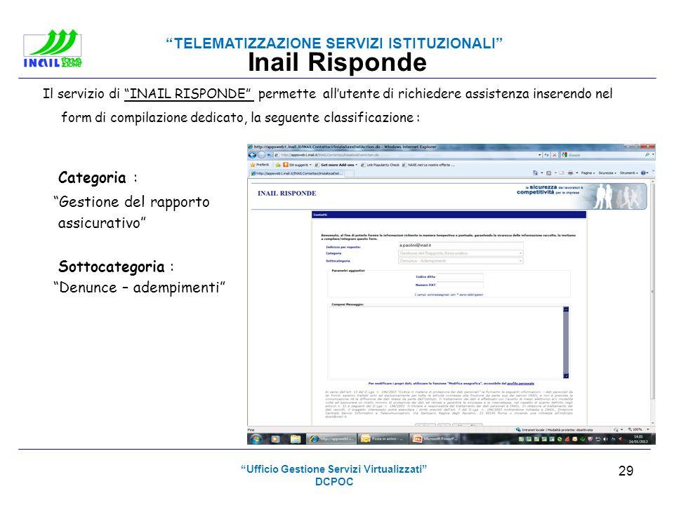 Ufficio Gestione Servizi Virtualizzati