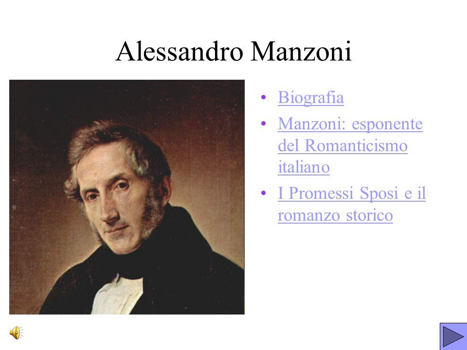 Alessandro Manzoni Biografia