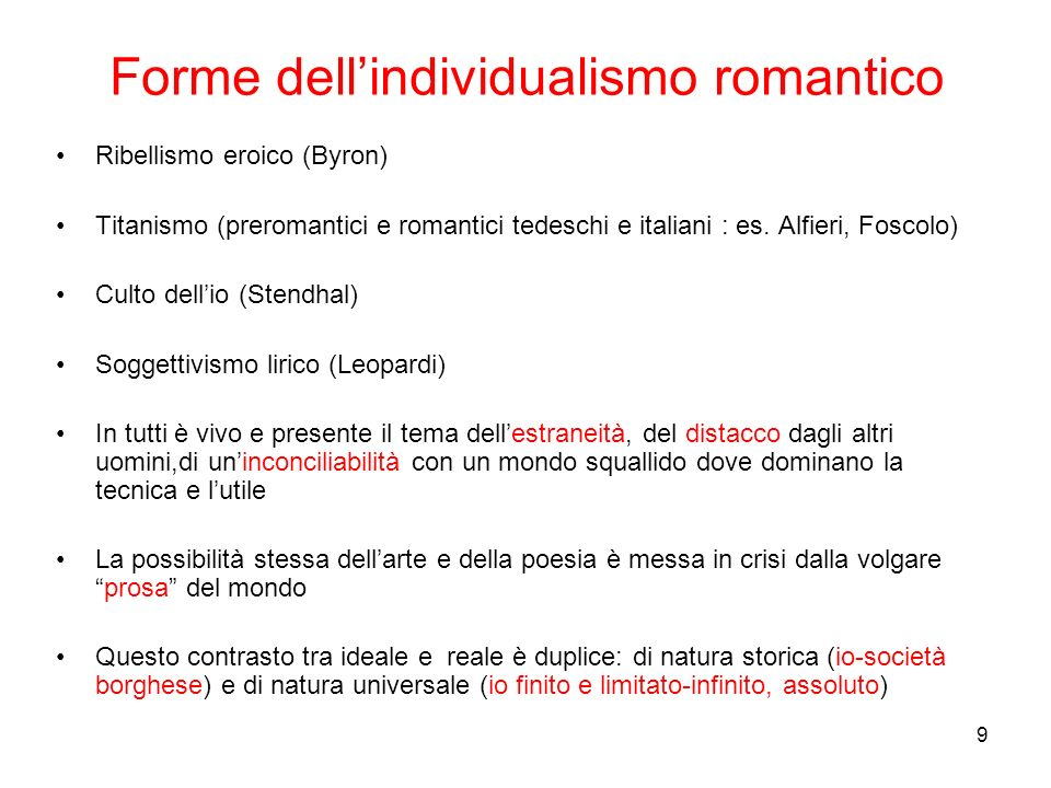 Forme dell'individualismo romantico