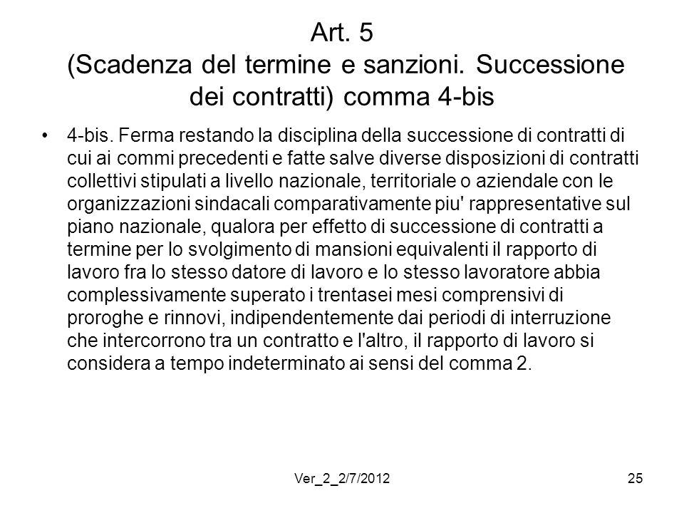 Art. 5 (Scadenza del termine e sanzioni