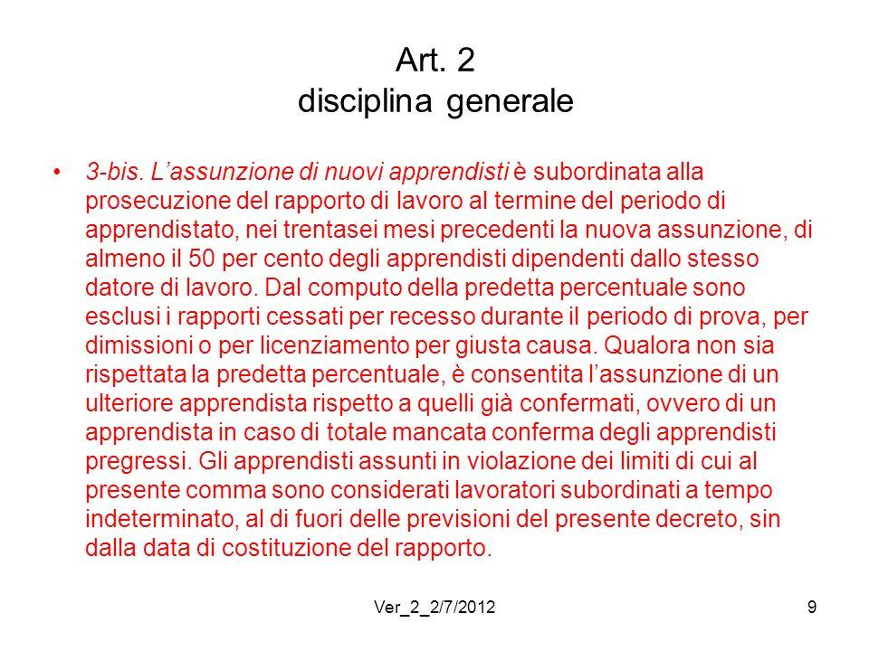 Art. 2 disciplina generale