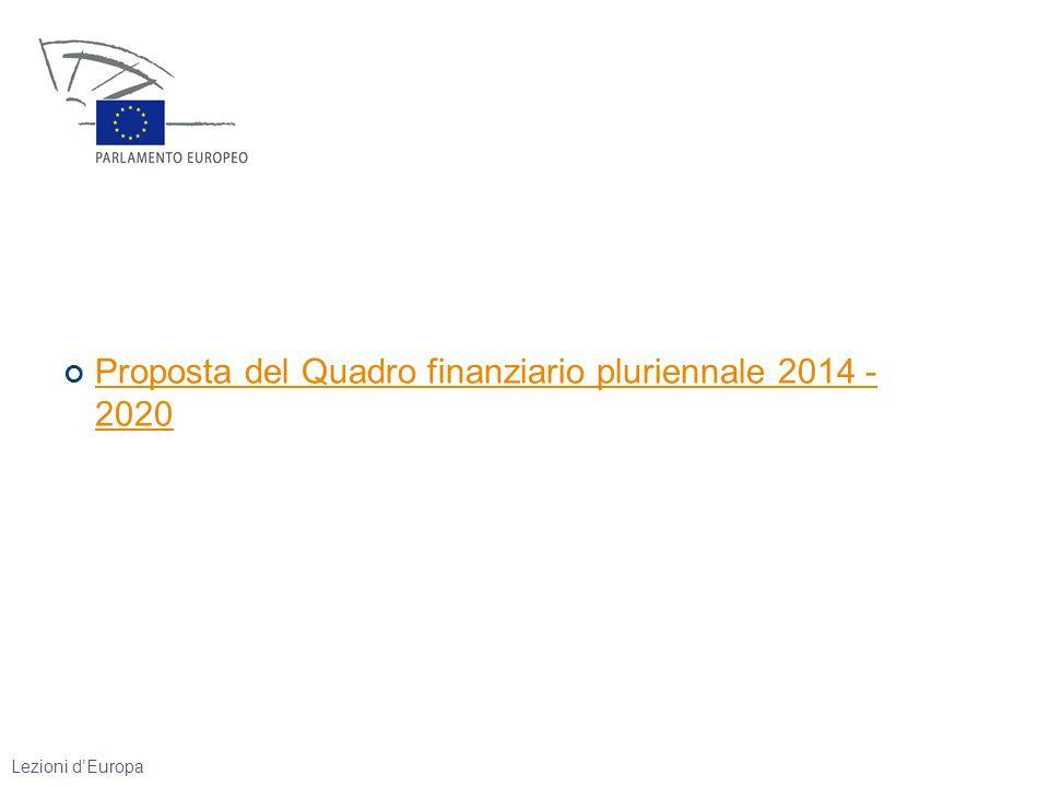 Proposta del Quadro finanziario pluriennale 2014 - 2020