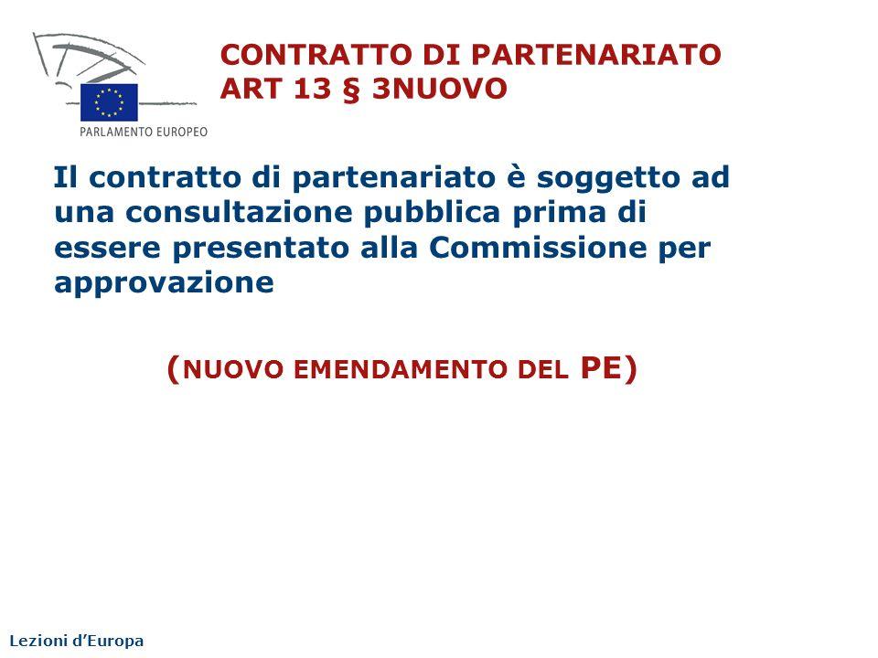 CONTRATTO DI PARTENARIATO ART 13 § 3NUOVO