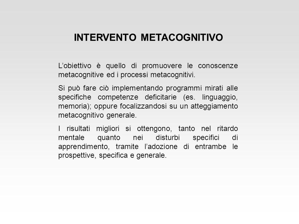 INTERVENTO METACOGNITIVO
